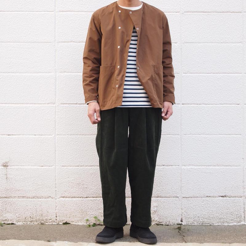 【unisex】Ordinary fits〈オーディナリーフィッツ〉 BOTTLES PANTS corduroy KHAKI