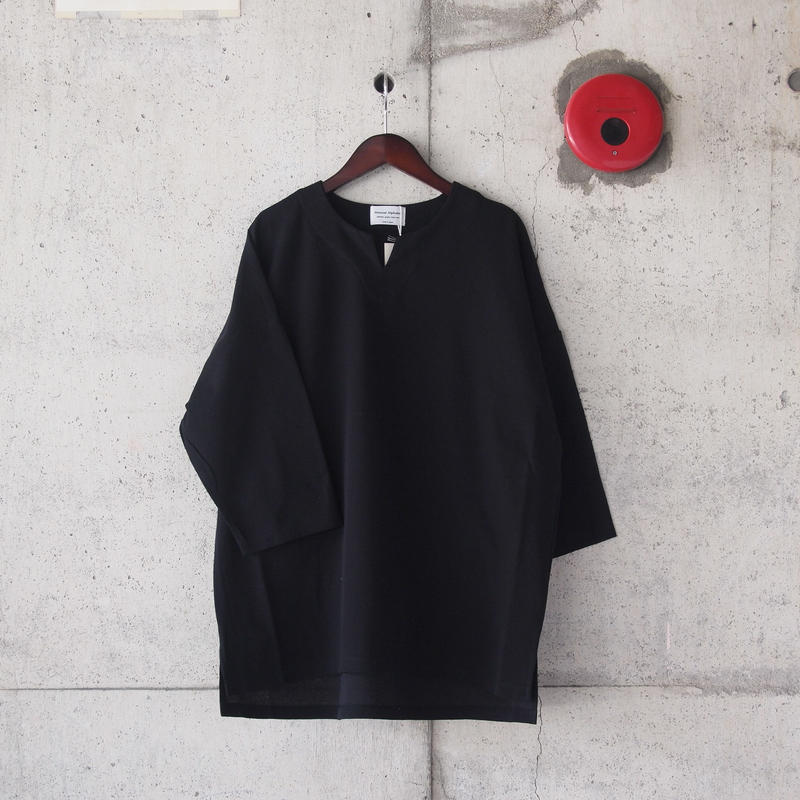 Manual Alphabet〈マニュアルアルファベット〉BASQUE SURF KNIT TEE BLACK