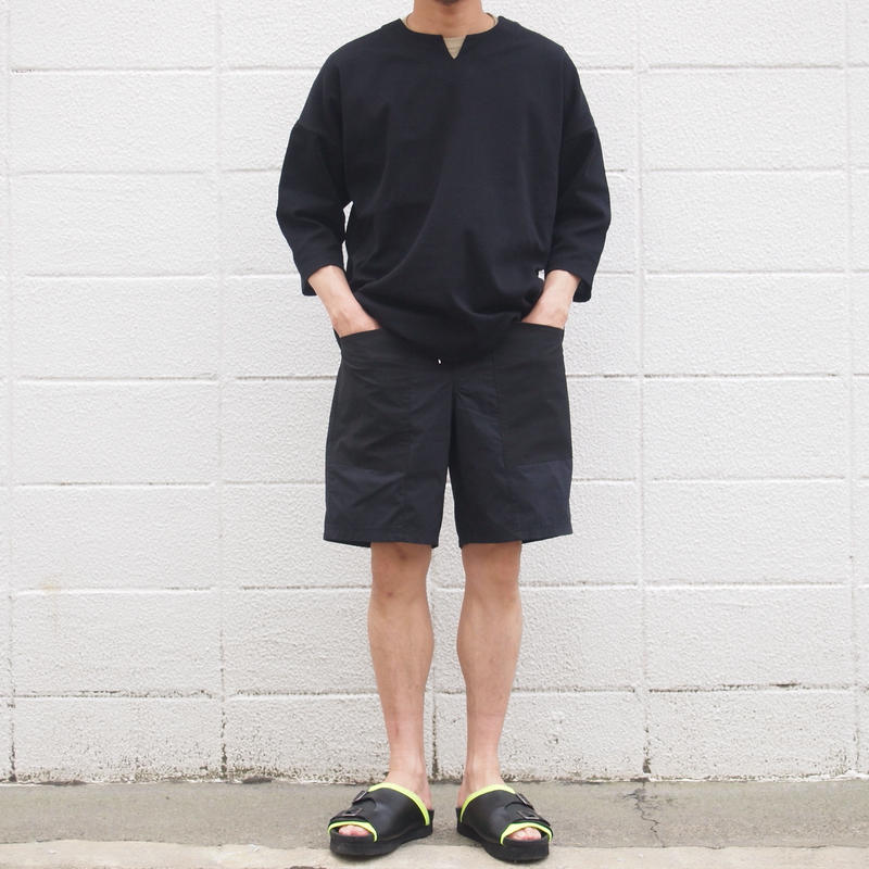 Manual Alphabet〈マニュアルアルファベット〉 ACTIVE SHORTS BLACK/NAVY