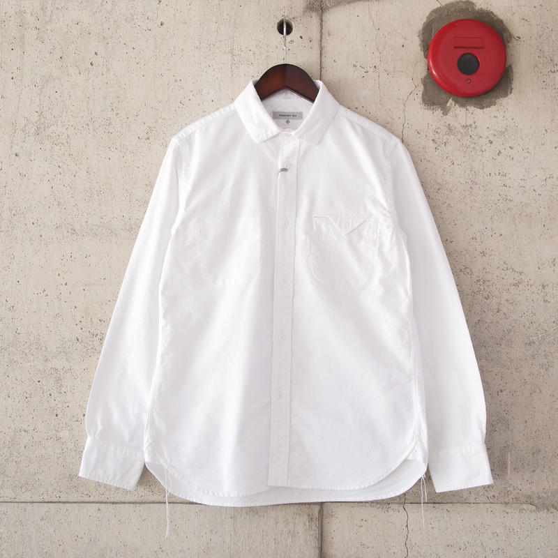 【unisex】Ordinary fits〈オーディナリーフィッツ〉 INVISIBLE B/D SHIRT (OM-S001) WHITE