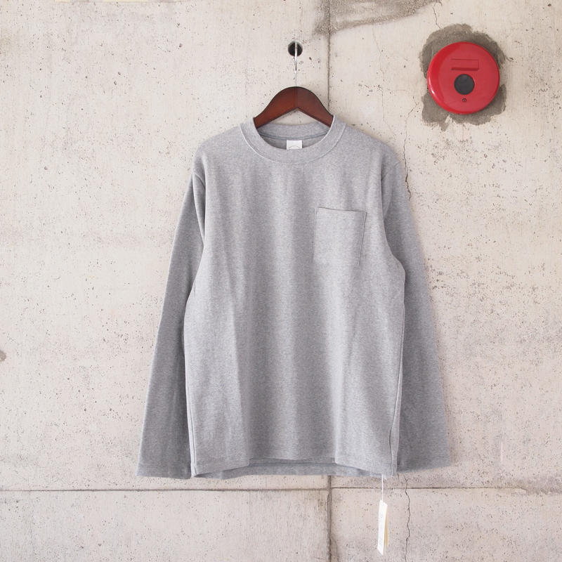 Manual Alphabet〈マニュアルアルファベット〉MILITARY FRAISE L/S T-SHIRTS GREY