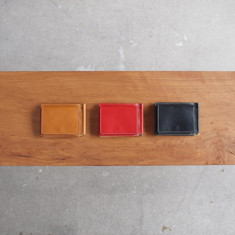 ART BROWN〈アートブラウン〉 BULGANO LEATHER MONEY CLIP BROWN/RED/BLACK