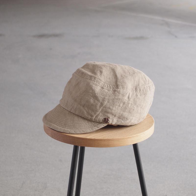 morno〈モーノ〉 LINEN WORK CAP BEIGE/NAVY