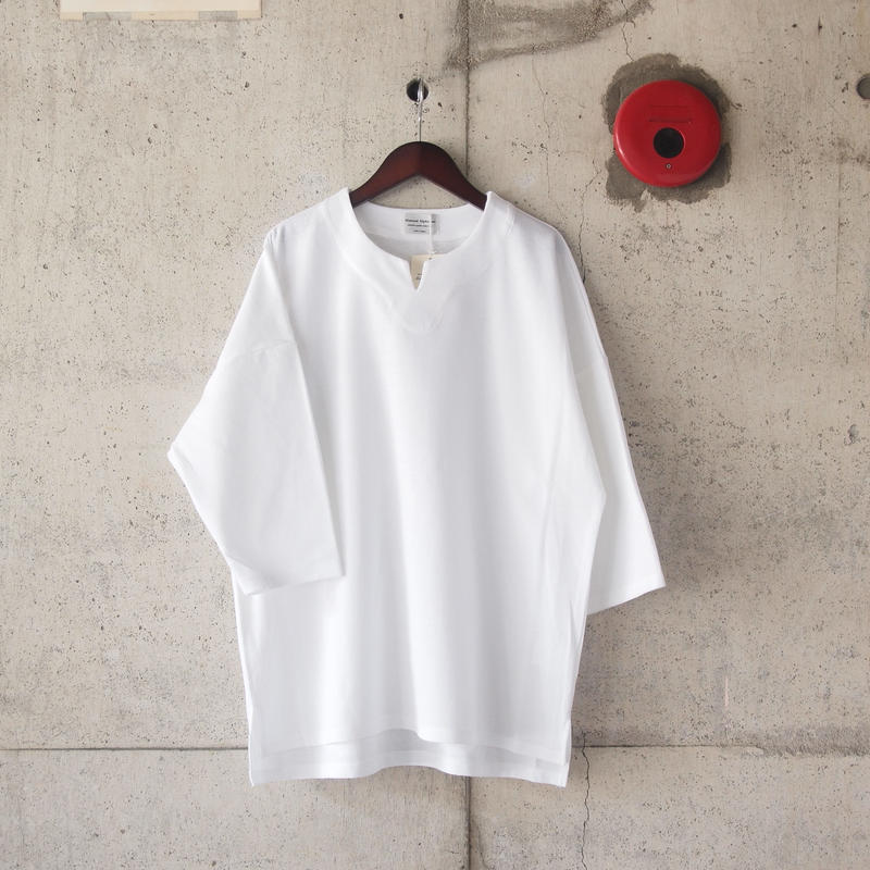 Manual Alphabet〈マニュアルアルファベット〉BASQUE SURF KNIT TEE WHITE