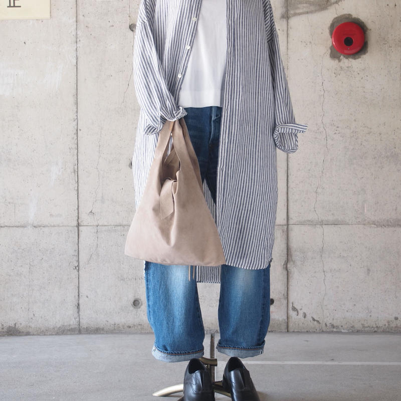 Dono〈ドーノ〉 SUEDE HAND BAG BEIGE/BLACK
