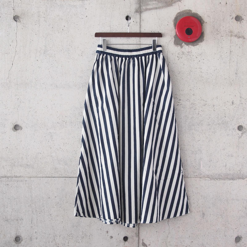 【women】have a good day〈ハブアグッデイ〉 STRIPE LONG SKIRT NATURAL×NAVY