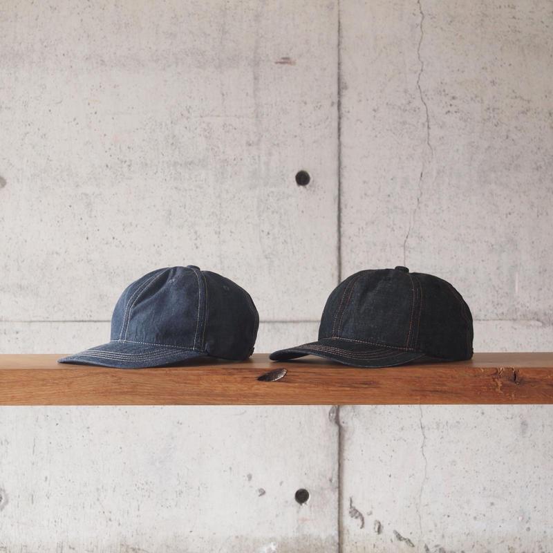 morno〈モーノ〉 LINEN DUNGAREE B.B. CAP NAVY/BLACK