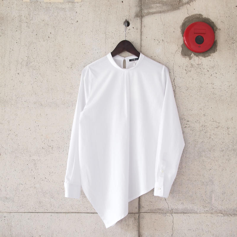 【women】HAOLU〈ハオル〉 ASYMMETRY BLOUSE WHITE