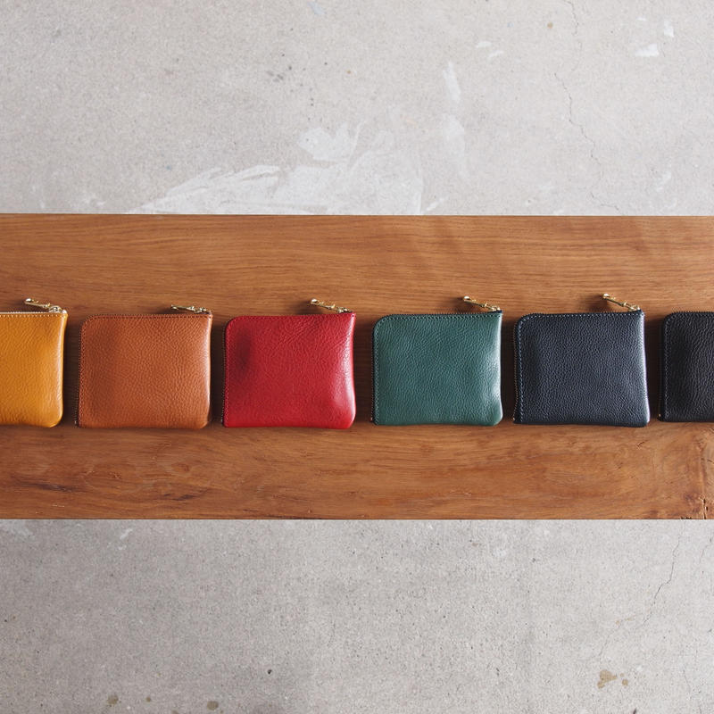 Dono 〈ドーノ〉  MINI WALLET  YELLOW/BROWN/RED/TURQUOISE/NAVY/BLACK