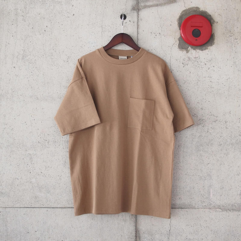 Goodwear〈グッドウェア〉 U.S.A. COTTON CRW NECK LOOSE TEE  TAN
