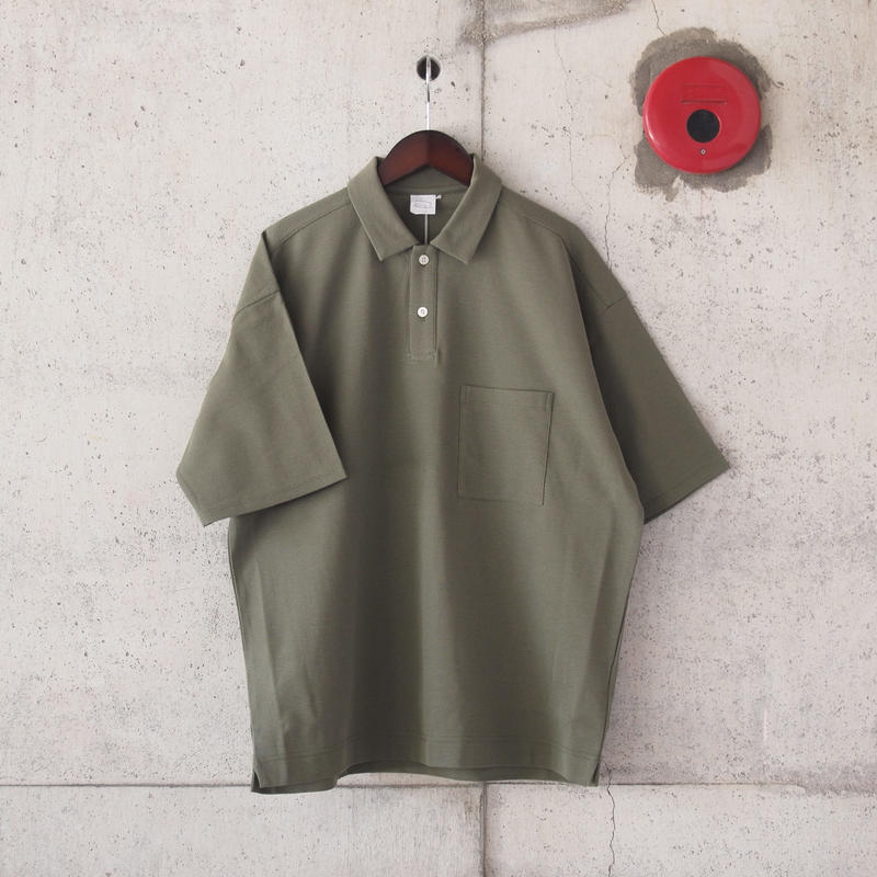 Manual Alphabet〈マニュアルアルファベット〉SURF KNIT POLO KHAKI