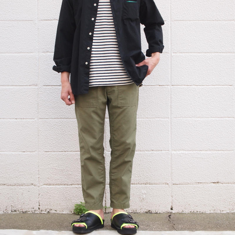 【unisex】Ordinary fits〈オーディナリーフィッツ〉 NEW BAREFOOT FATIGUE PANTS (OM-P113) OLIVE