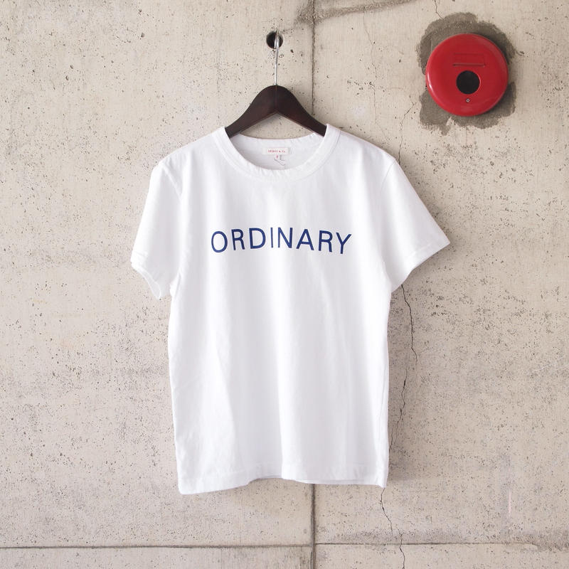 【women】SEIRYU & Co.〈セイリューアンドコー〉 ORDINARY T-SHIRT WHITE