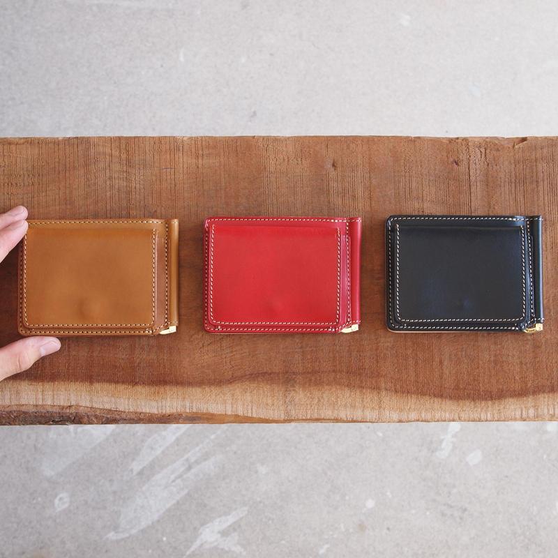 ART BROWN〈アートブラウン〉 BULGANO LEATHER MONEY CLIP BROWN/RED/BLACK