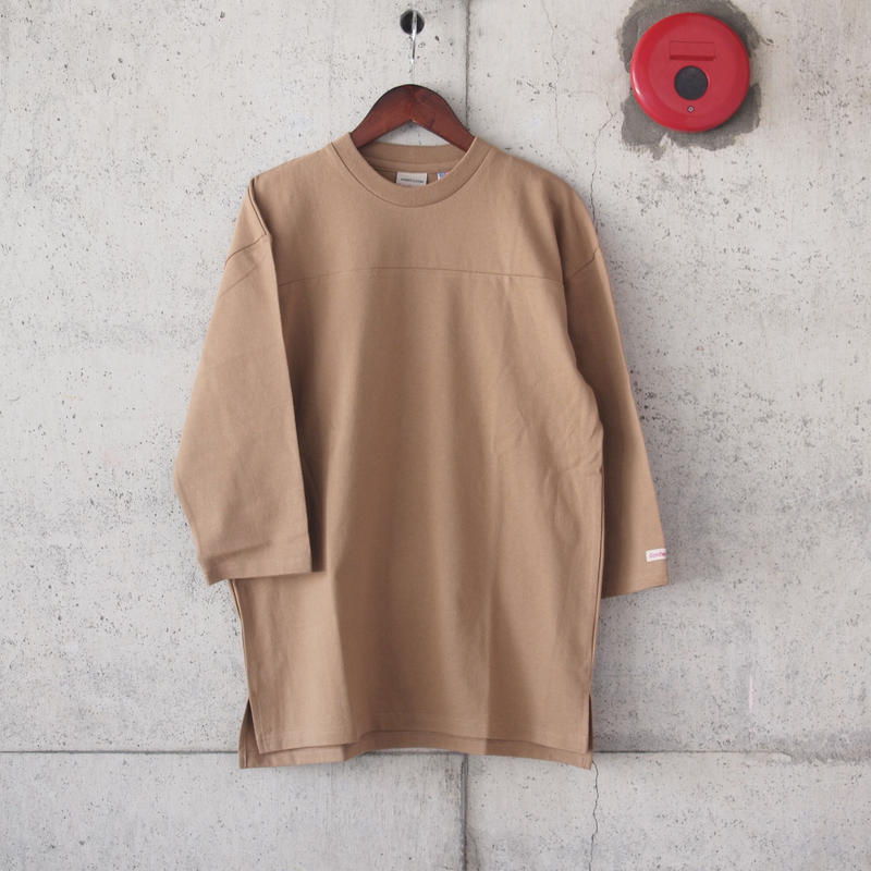 Goodwear〈グッドウェア〉U.S.A. COTTON FOOTBALL TEE  TAN