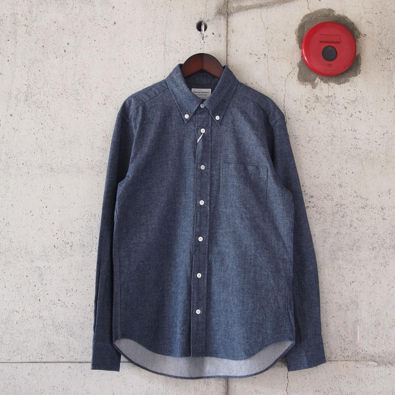 Manual Alphabet〈マニュアルアルファベット〉 COTTON FLANNEL B.D SHIRT NAVY