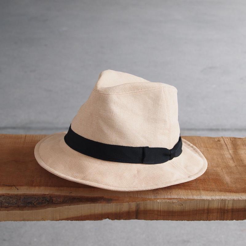 morno〈モーノ〉 PAPER CLOTH MANNISH HAT BEIGE