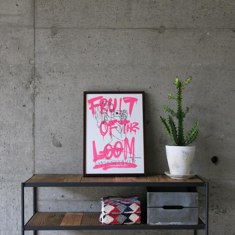 FRUIT OF THE LOOM〈フルーツオブザルーム〉 FRUIT PARLOR アートボード - Art by RYUJI KAMIYAMA