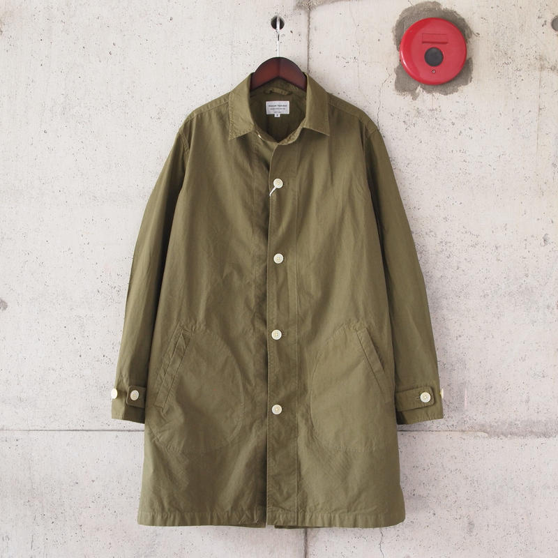 【unisex】Manual Alphabet〈マニュアルアルファベット〉 TYPEWRITER SHIRT COAT ML.OLIVE
