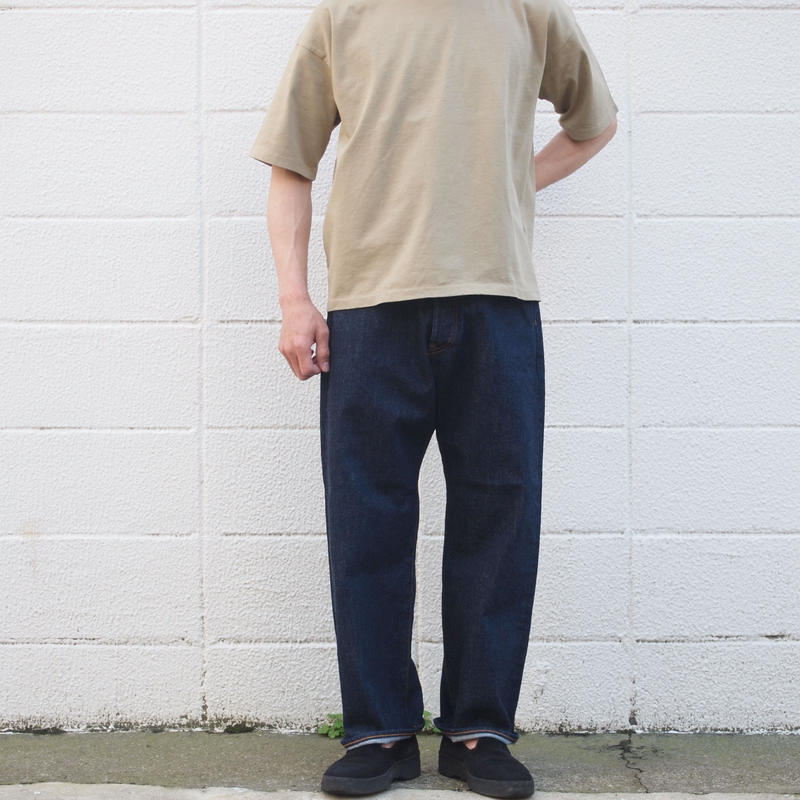 【unisex】Ordinary fits〈オーディナリーフィッツ〉 FARMERS 5P DENIM one wash INDIGO