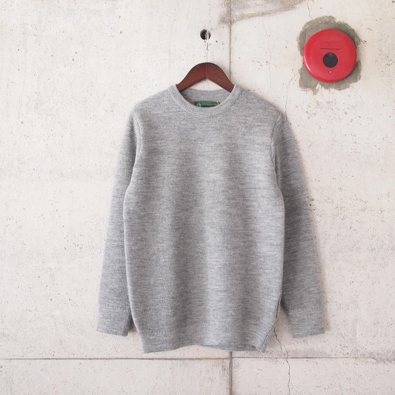 【unisex】have a good day〈ハブアグッデイ〉 HALF SWEATER GREY