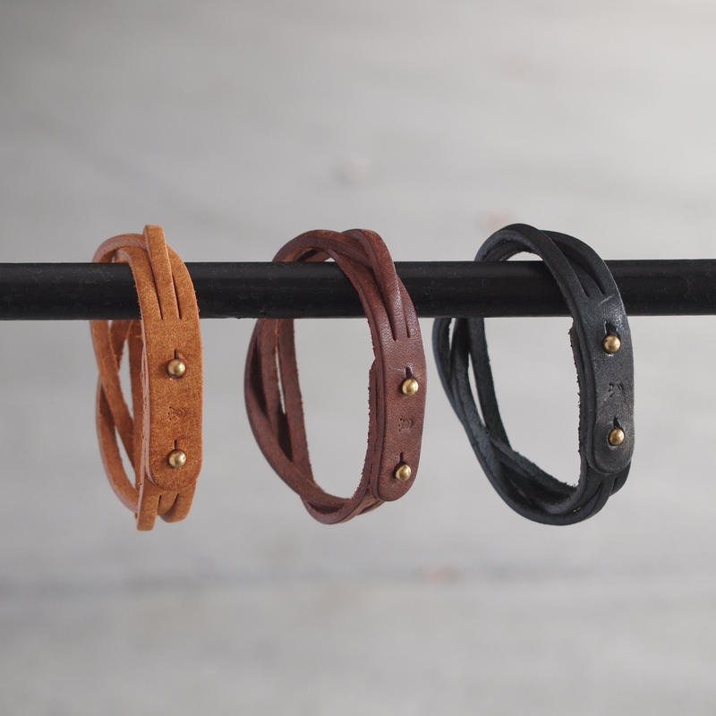 Esperanto〈エスペラント〉 PUEBLO BRACELET  CAMEL/BROWN/BLACK
