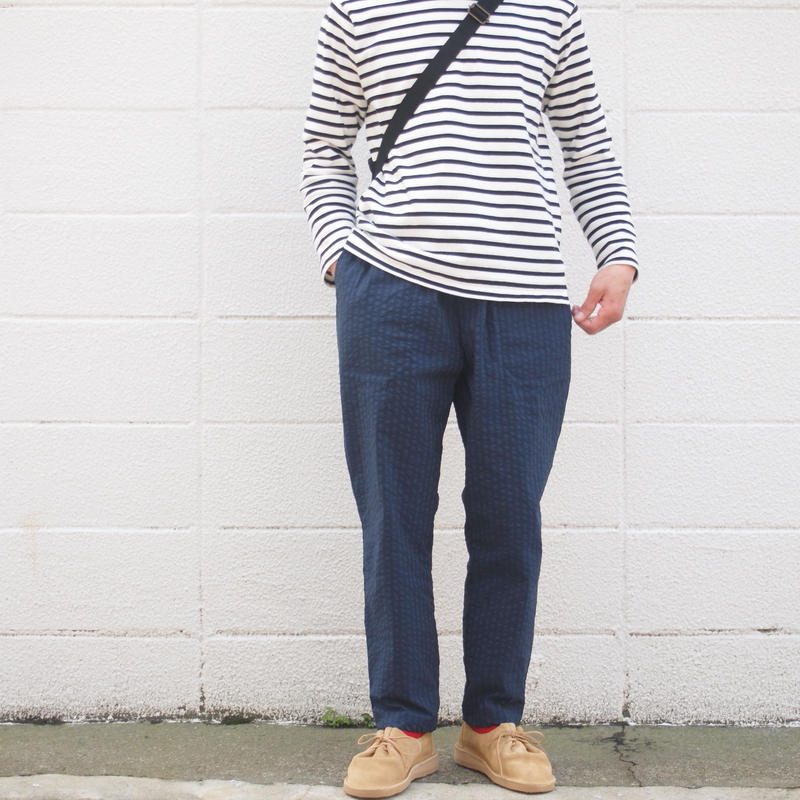 Manual Alphabet〈マニュアルアルファベット〉 SEERSUCKER EASY PANTS  NAVY