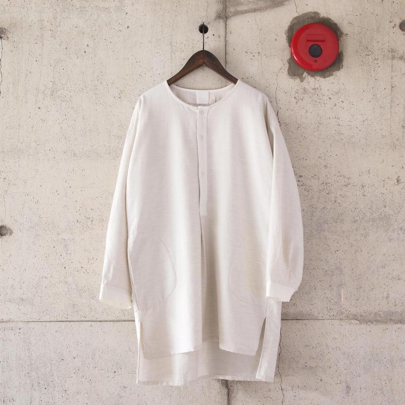 5W〈ゴワット〉  Longrand shirts - cotton flannel WHITE