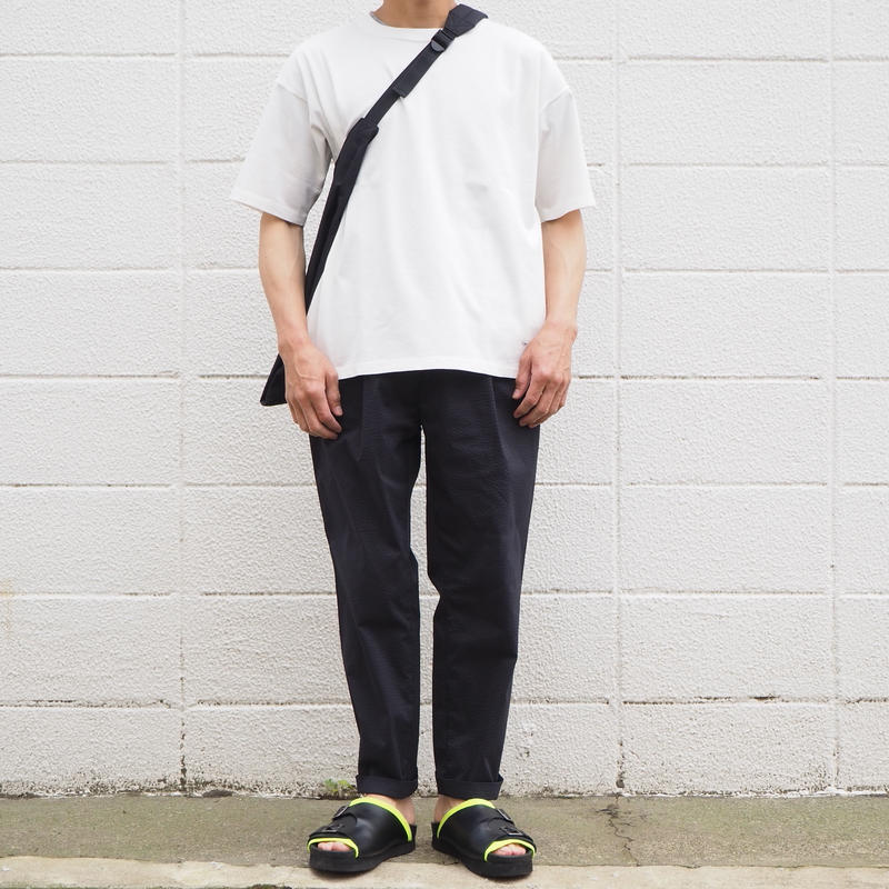 Manual Alphabet〈マニュアルアルファベット〉 COOLMAX SEERSUCKER TROUSERS BLACK