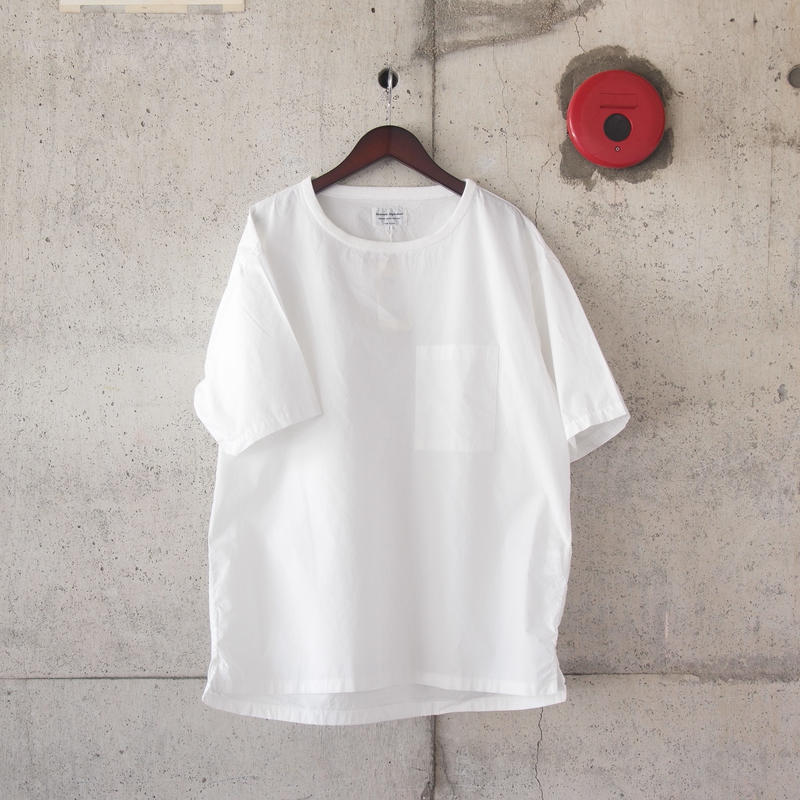 【unisex】Manual Alphabet〈マニュアルアルファベット〉 OVERDYE LOOSE FIT TEE WHITE