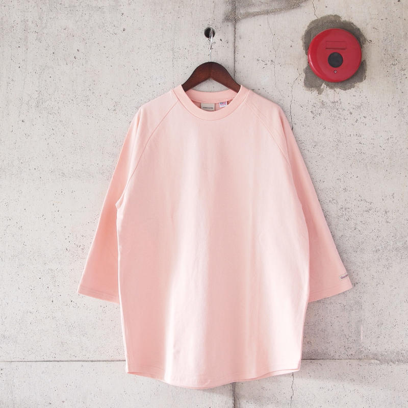 Goodwear〈グッドウェア〉 U.S.A COTTON 7分袖 T-Shirts PINK