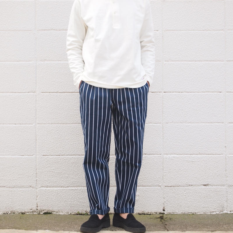【unisex】COOKMAN〈クックマン〉 CHEF PANTS STRIPE NAVY