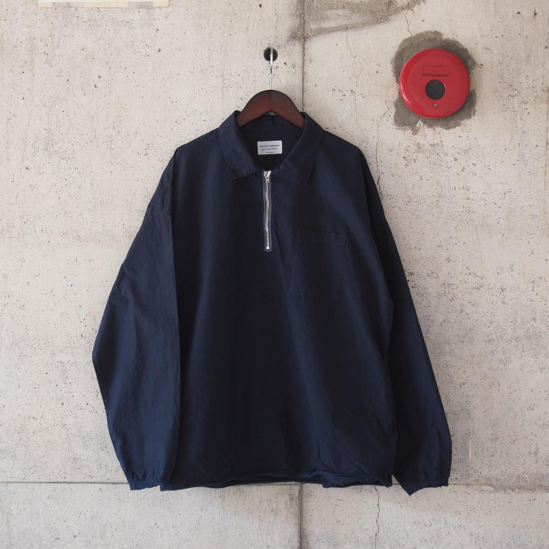 Manual Alphabet〈マニュアルアルファベット〉 PRODUCT DYE LONG SLEEVE POLO NAVY