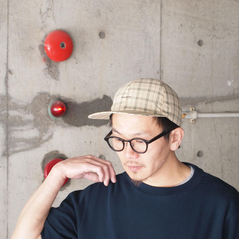 morno〈モーノ〉CHECK B.B. CAP BEIGE/GREEN