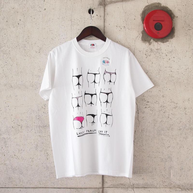 【unisex】FRUIT OF THE LOOM〈フルーツオブザルーム〉 FRUIT PARLOR ART PROJECT - 神山 隆二 WHITE