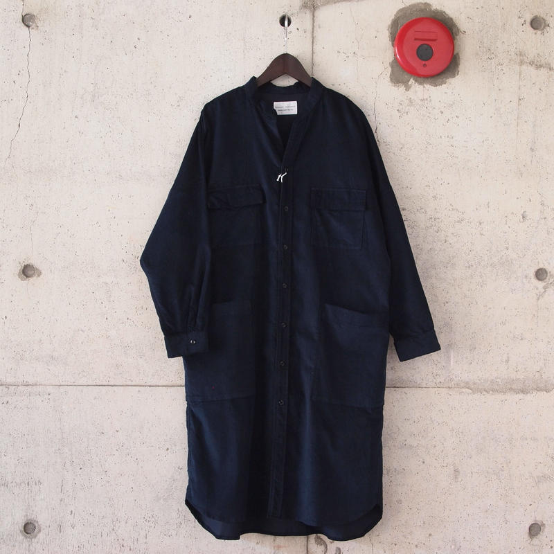 【women】Manual Alphabet〈マニュアルアルファベット〉 CORDUROY DOLMAN ONE PIECE NAVY