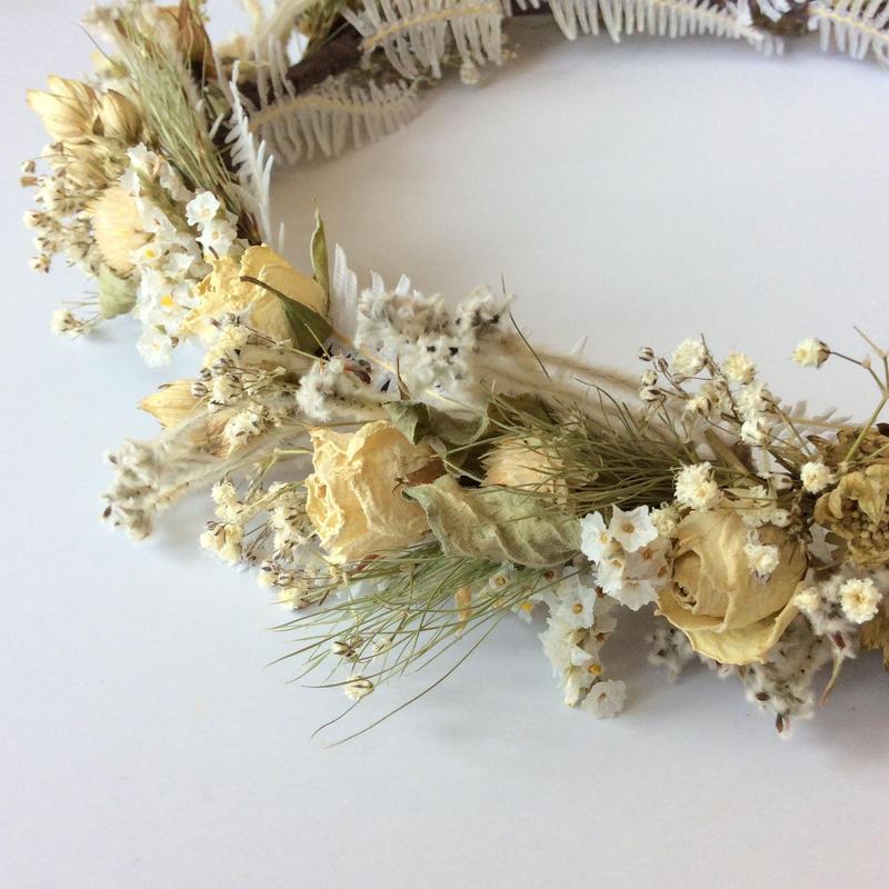 《ウェディング》花かんむり(ホワイト系)