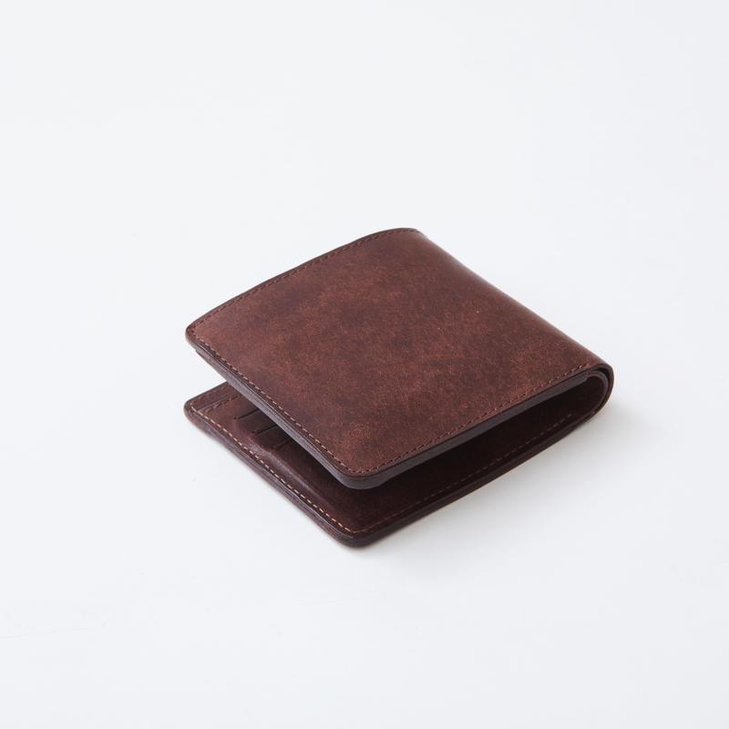 half wallet(ダークブラウン)