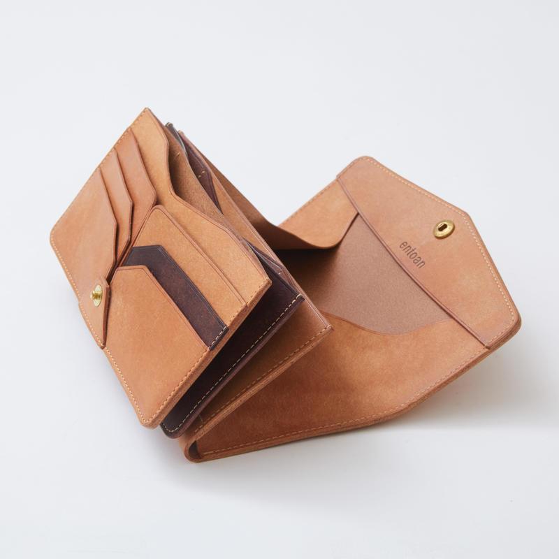 combination long wallet(ナチュラル×ダークブラウン)