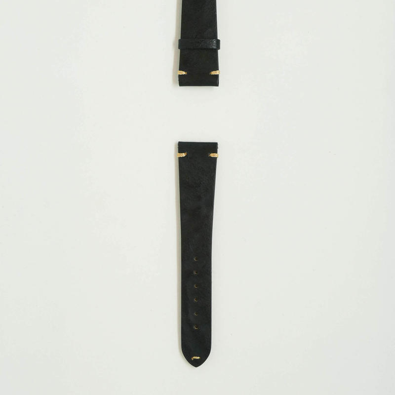 Aging  Leather Strap for ROLEX Black
