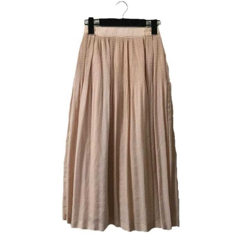 dot pleats flare skirt pink(No.2806)