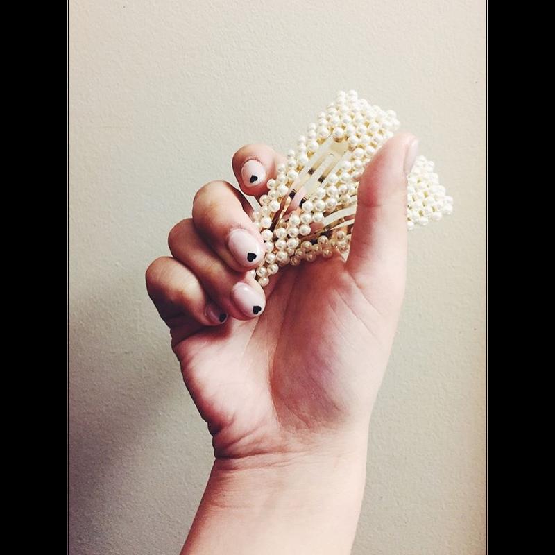 pearl design hair pin