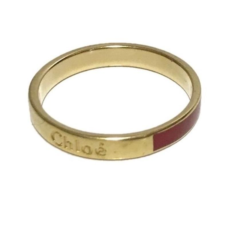Chloé logo ring RED