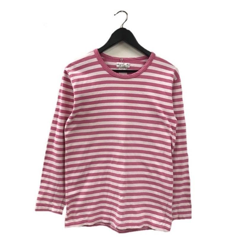 agnés b. border design tops pink(No.2881)