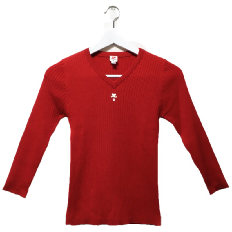 courrèges knit red