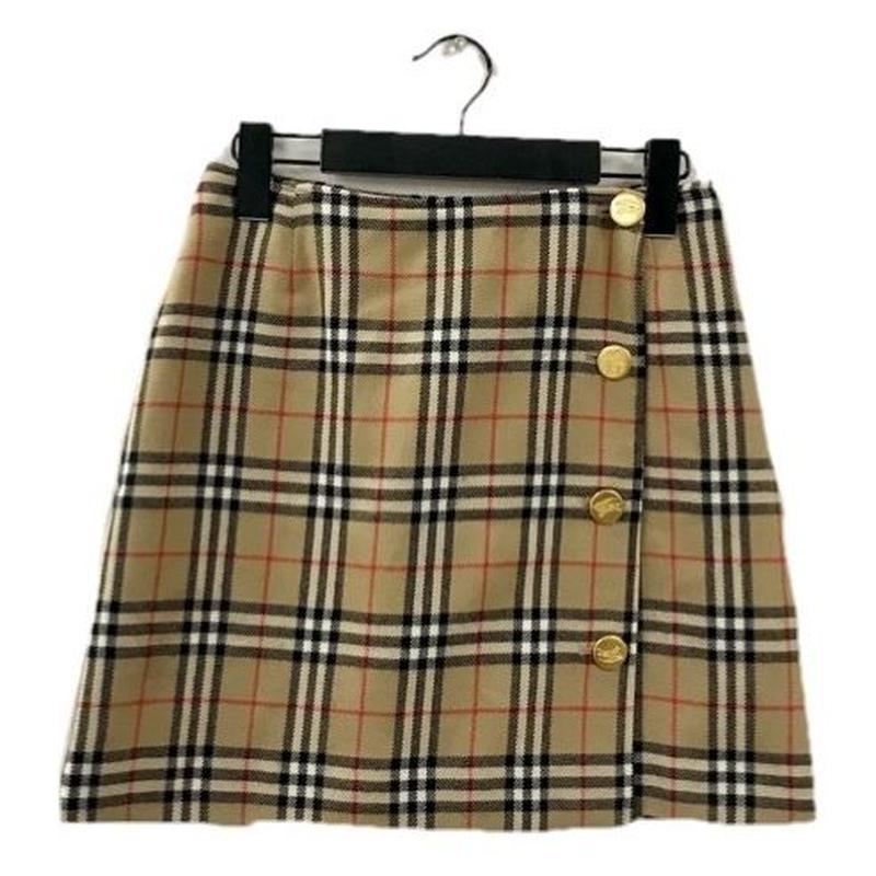 Burberry check design gold button mini skirt(No.3298)