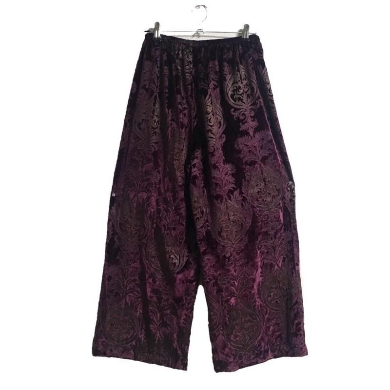velour  design pants purple