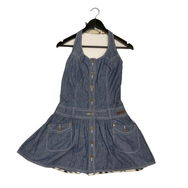 Burberry halter neck denim one piece (No.2899)