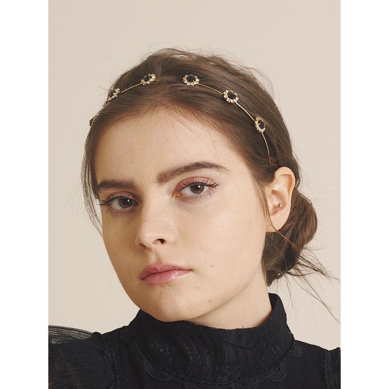 flower bijou gold hair accessory