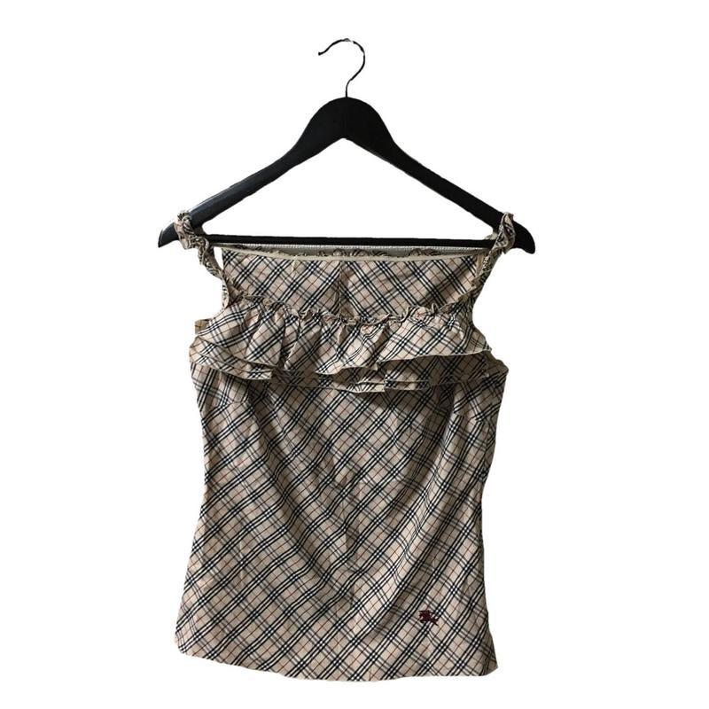 Burberry check design frill camisole(No.3271)